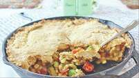 "Double-Crusted Summer Vegetable Pie from ""Biscuits: Sweet and Savory Southern Recipes for the All-American Kitchen"" by Jackie Garvin (Skyhorse Publishing, $19.99)."