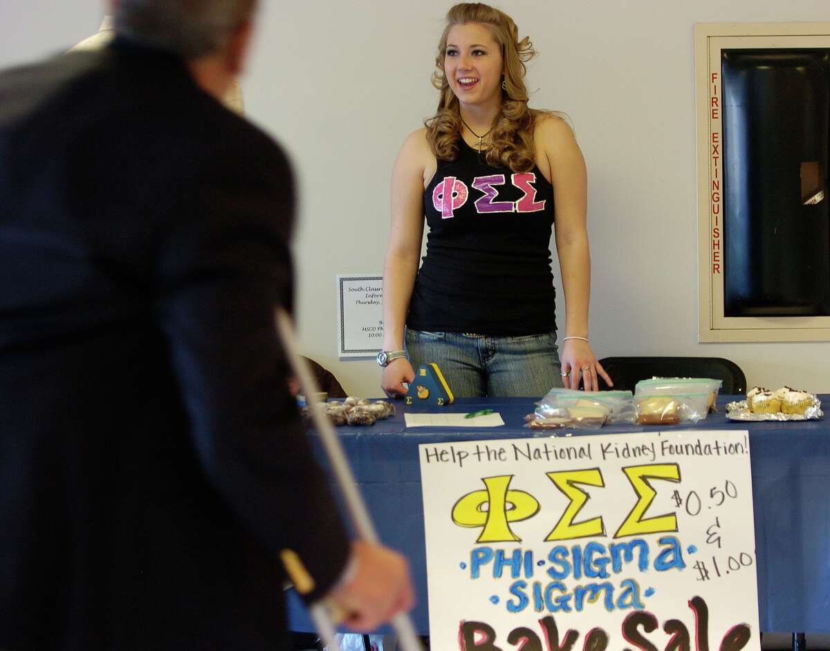 A member of Phi Sigma Sigma sorority's University of Colorado chapter is pictured in a file photo. The sorority has sued an unidentified former member claiming she broke a contract with the sorority by leaking details on its rituals.