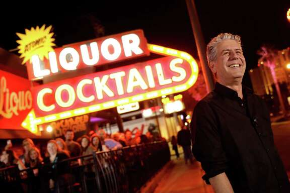 "LAS VEGAS, NV - NOVEMBER 10: TV Personality Anthony Bourdain attends ""Parts Unknown Last Bite"" Live CNN Talk Show hosted by Anthony Bourdain at Atomic Liquors on November 10, 2013 in Las Vegas, Nevada. 24280_001_0259.JPG"