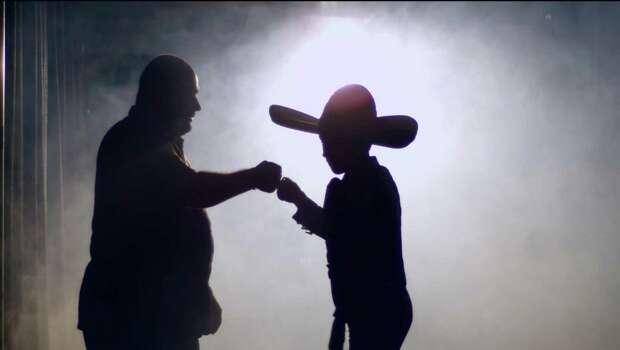 """Sebastien De La Cruz shown in shadow with his dad, Juan De La Cruz, in Eva Longoria's short film '""""¡Go Sebastien Go!"""" for ESPN Films. May, 2015 Photo: ESPN Films / ESPN"""