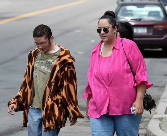 Brenda VanAlstyne, right, arrives with family members at Albany County Family Court as her hearing continues Monday afternoon May 4, 2015 in Albany, N.Y.     (Skip Dickstein/Times Union) Photo: SKIP DICKSTEIN / 00031696A