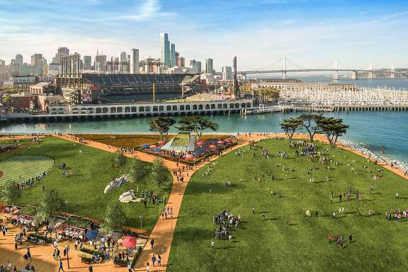 Renderings of the proposed improvements for the San Francisco Giants' long-planned mixed-use development across from AT&T Park.