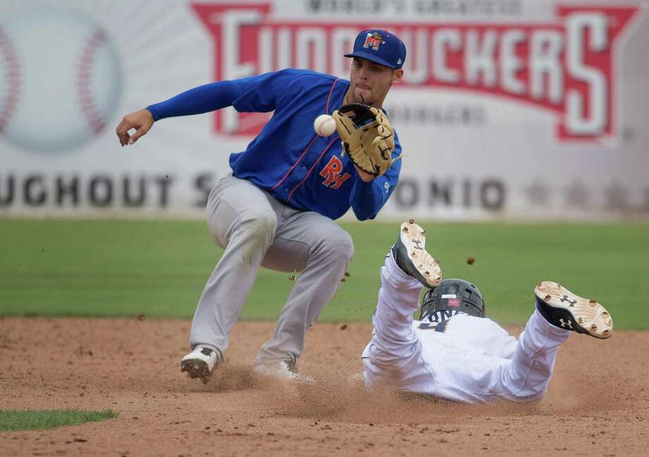 What moves will the A's make this off-season to return to the playoffs in 2016? Key youngsters who spent this season at Class-A Stockton and Double-A Midland are particularly exciting — among them shortstop Chad Pinder... Photo: Darren Abate, FRE / Darren Abate/Express-News / San Antonio Express-News