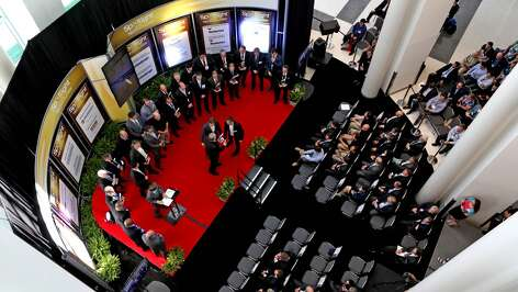 Spotlight on New Technology awards at the Offshore Technology Conference at the NRG Center Monday, May 4, 2015, in Houston, Texas. ( Gary Coronado / Houston Chronicle )