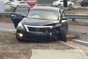 3 arrested in burglary after brief car chase, crash - Photo
