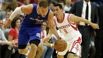 The Clippers' Blake Griffin (32) was a man on a mission Monday night, getting 26 points, 14 rebounds and 13 assists and helping fill a void as guard Chris Paul sat out the game with a strained hamstring.
