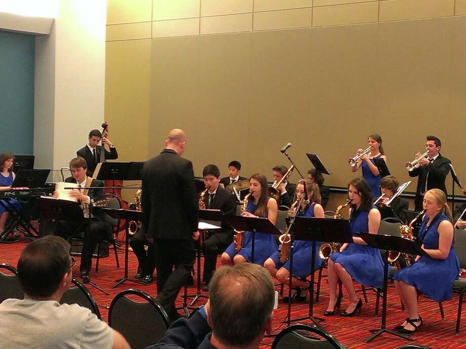 The award winning Darien High School Jazz Ensemble, under the direction of Jonathan Grauer, recently performed as an Honors Ensemble at the 2015 Connecticut Music Educators Association conference on May 1. The ensemble was chosen by both audition and past achievements to perform at the Connecticut Convention Center in Hartford for Music Educators from throughout Connecticut.  The Darien students performed a challenging program to rave reviews. Photo: Contributed Photo / Darien News