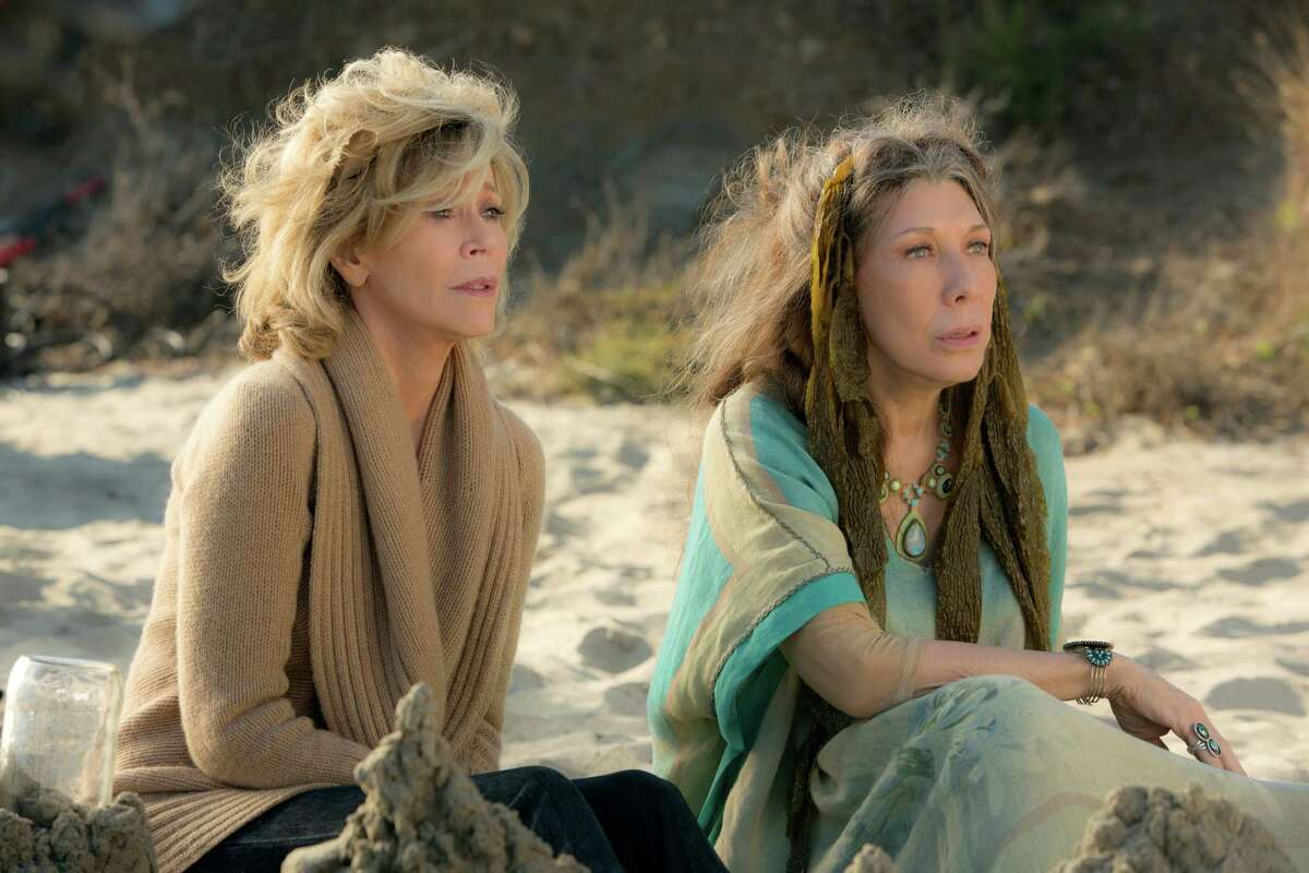 """Jane Fonda, left, and Lily Tomlin star as two women whose lives are uprooted in Netflix's """"Grace and Frankie."""""""