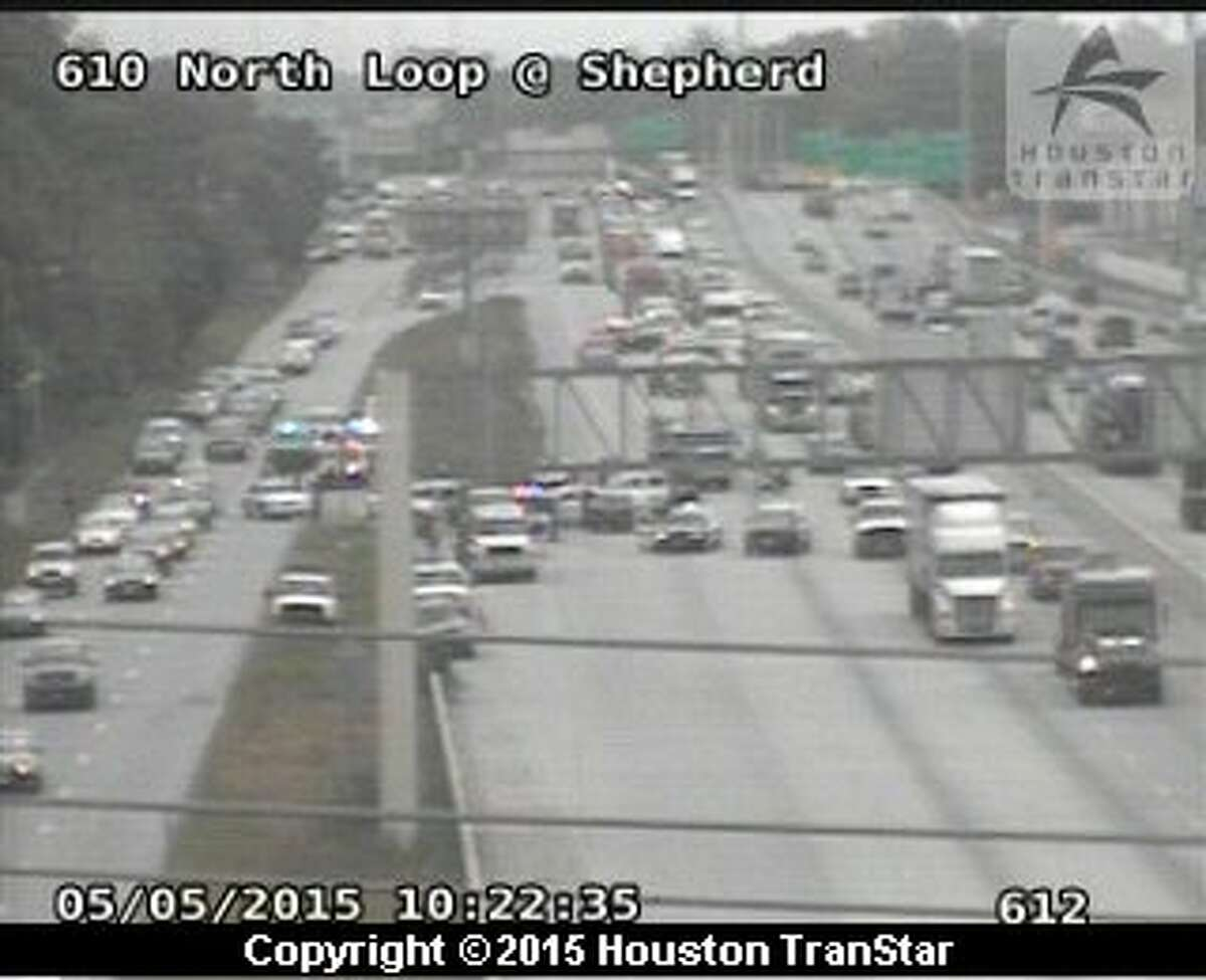 A major accident is tying up traffic on Houston's north loop. The two-vehicle accident happened just before 10 a.m. on westbound 610 North Loop near Shepherd Drive.