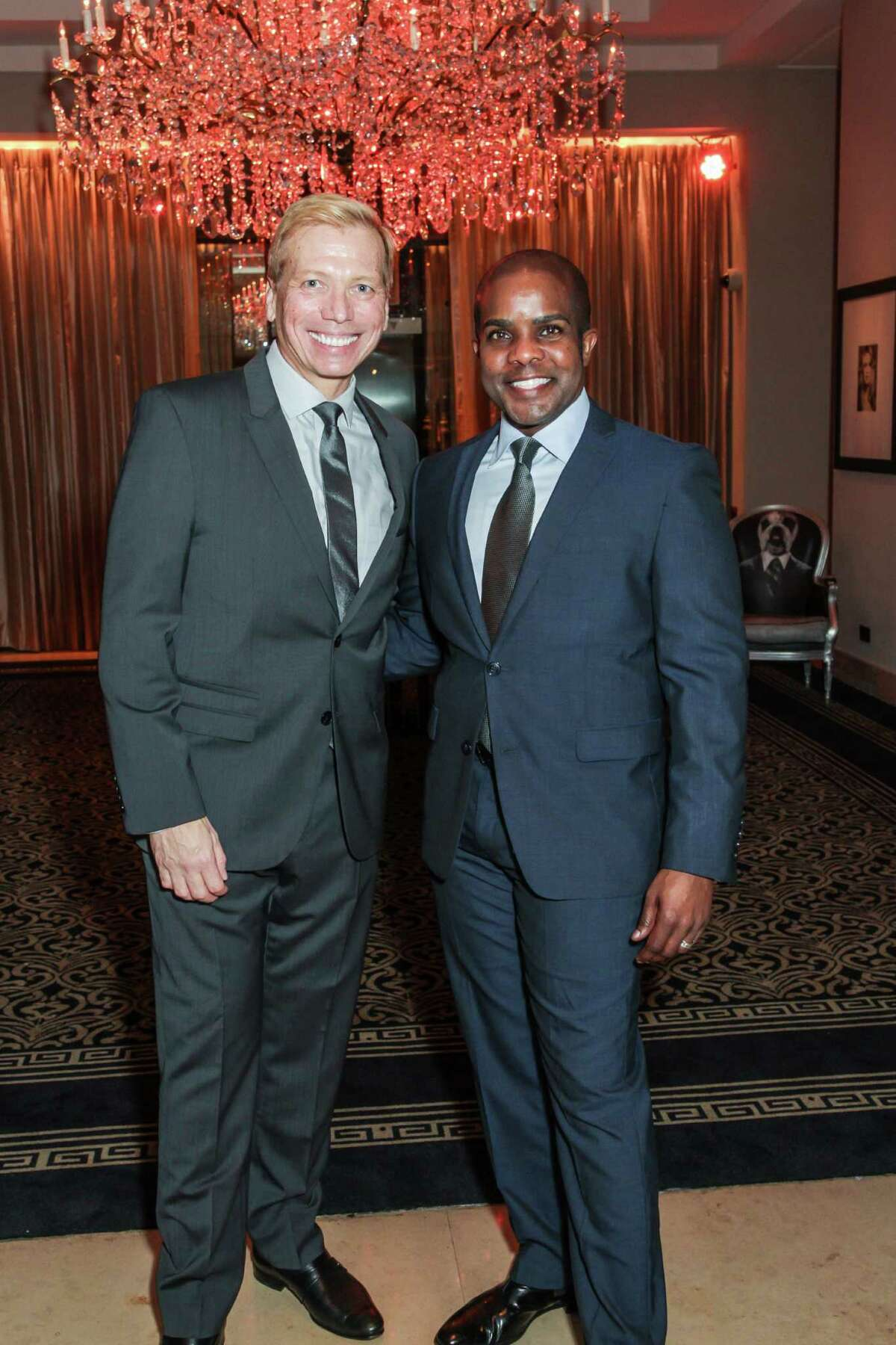 SOCIETY: Jonathon Glus and Alton LaDay at the Houston Arts Alliance's Intimate Evening with Lee Daniels at the Hotel ZaZa.