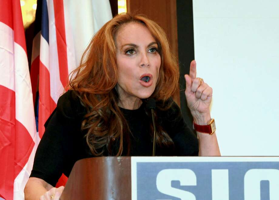 Pamela Geller, head of the American Freedom Defense Initiative, speaks at a 2012 conference in New York. Photo: David Karp, Associated Press