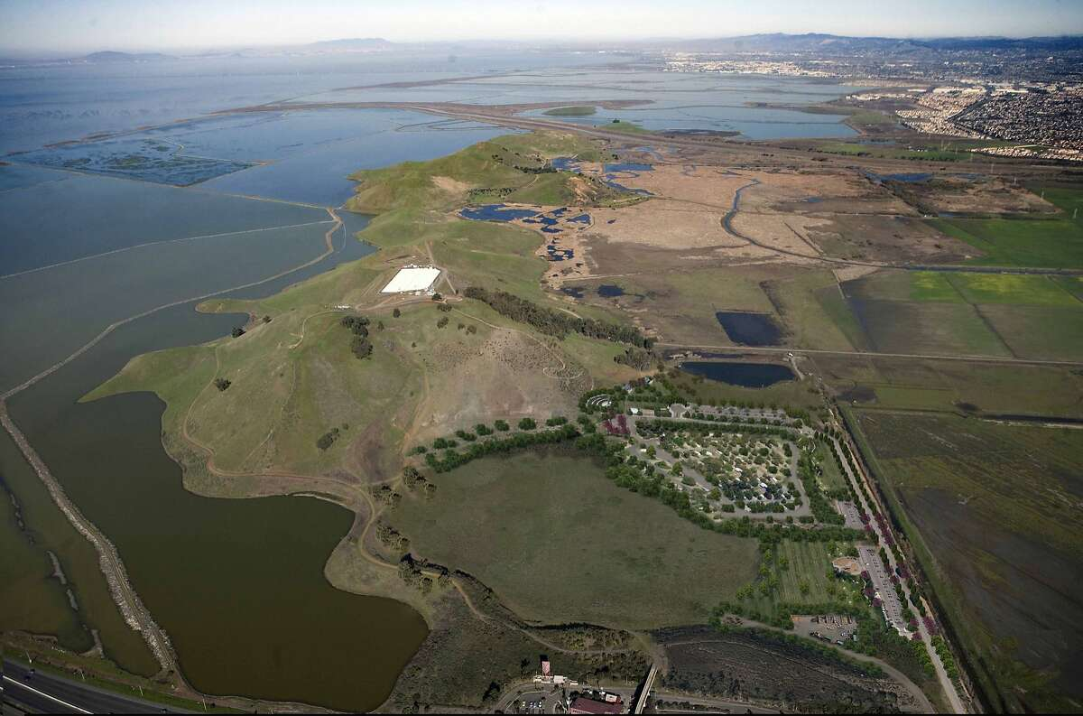 This altered photo by park planners shows the completed vision of the Dumbarton Quarry Regional Recreation Area after renovation, scheduled to open in 2017. It will be the missing link for thousands of acres of contiguous parkland on the edge of South San Francisco Bay. It is located near the eastern foot of the Dumbarton Bridge.