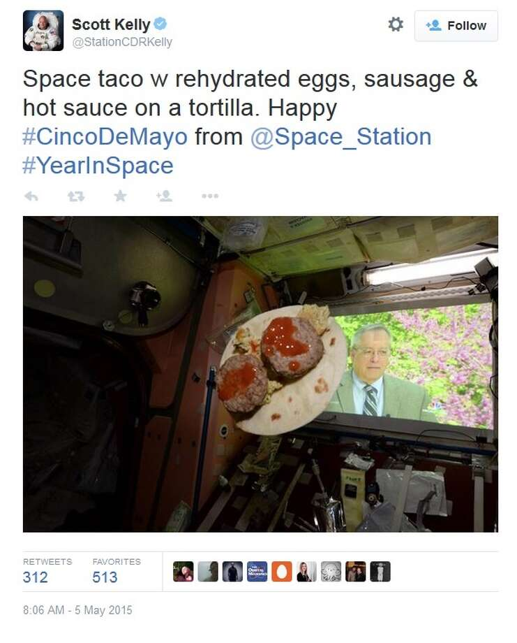 Astronaut Scott Kelly's space taco may be the saddest thing a TexMex lover will ever see.However, he will have plenty of great dishes waiting for him when he returns to Houston next year.Check out the best places in Houston to find authentic TexMex ...