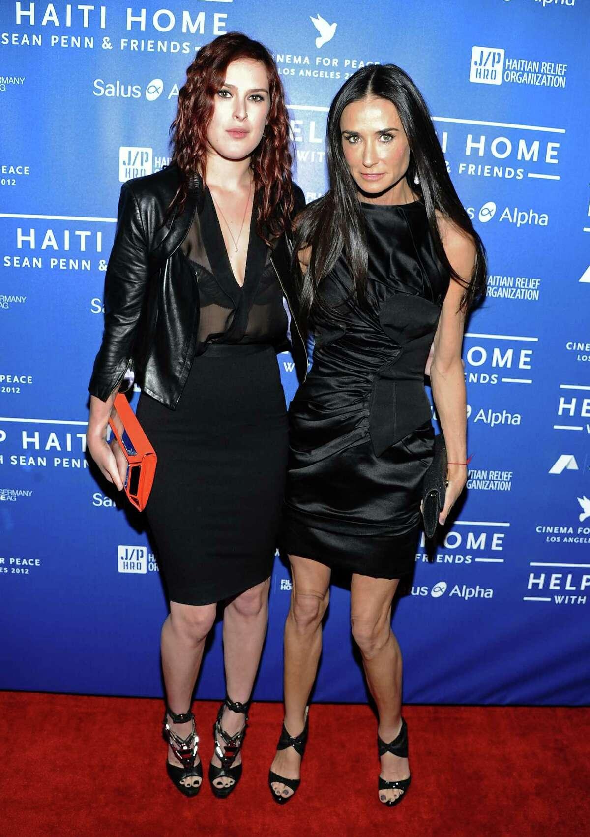 Rumer Willis (born in 1988) and Demi Moore (born in 1962)