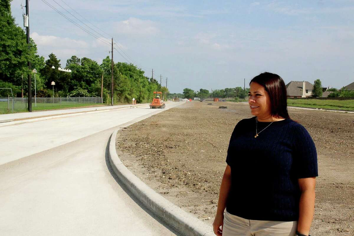 Pearland city projects manager Andrea Brinkley says she has received inquiries from residents anxious for completion of a Pearland Parkway extension to link with Dixie Farm Road.