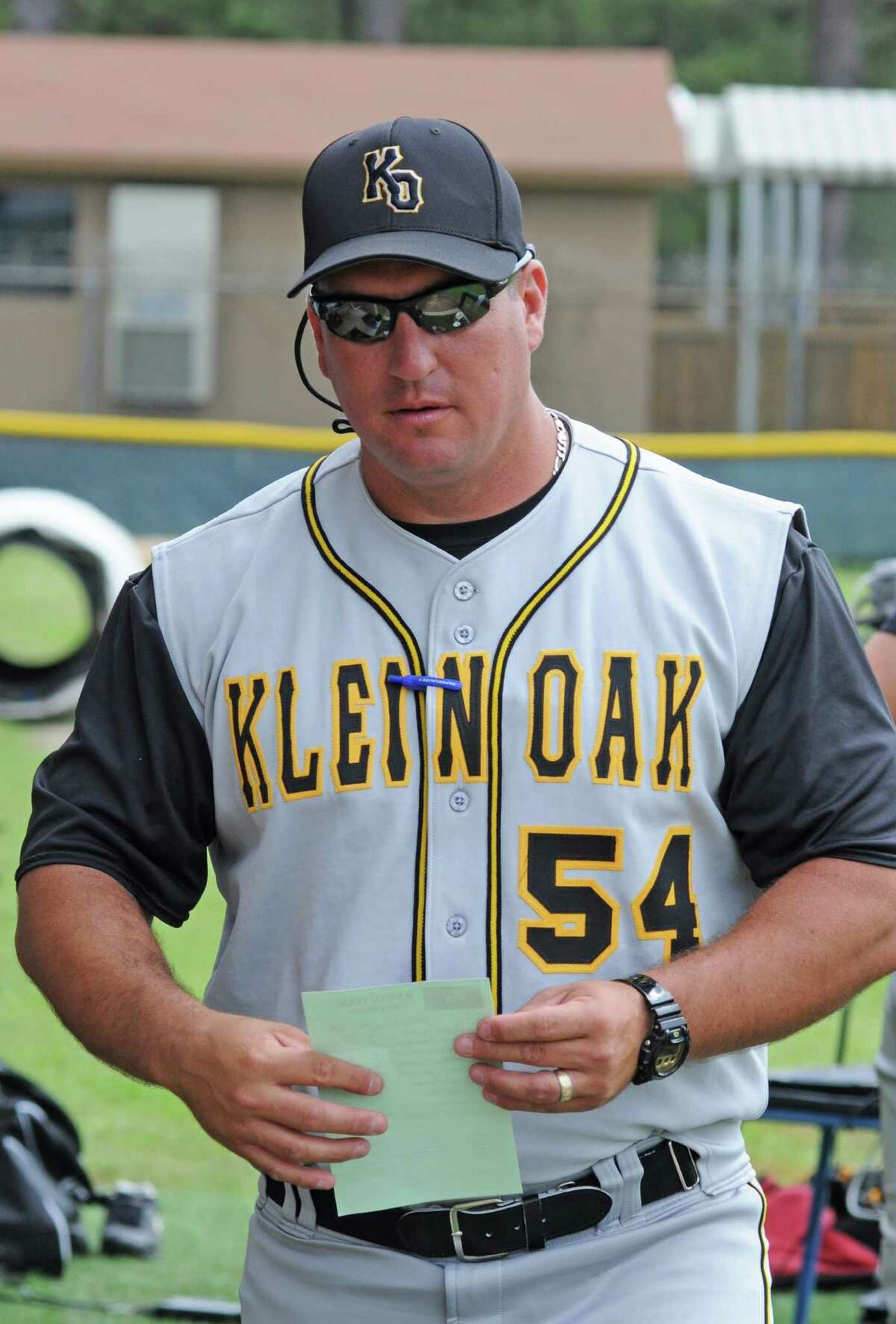 Klein Oak baseball coach Bo Hernandez has his Panthers ready to face College Park.