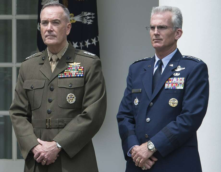 The president's picks for Joint Chiefs of Staff, Marine Gen. Joseph Dunford (left) and Air Force Gen. Paul Selva, should face no problems being confirmed. Photo: Nicholas Kamm /Getty Images / Nicholas Kamm/AFP