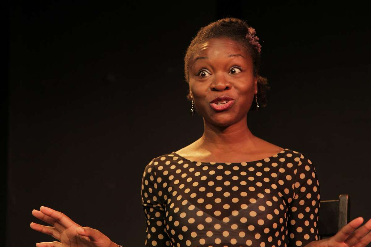 """Echo Brown performs in her solo show """"Black Virgins Are Not For Hipsters"""" at the Marsh"""