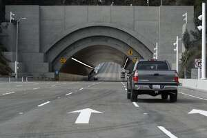 New Bay Bridge corrosion probe: Concrete chunk falls in tunnel - Photo