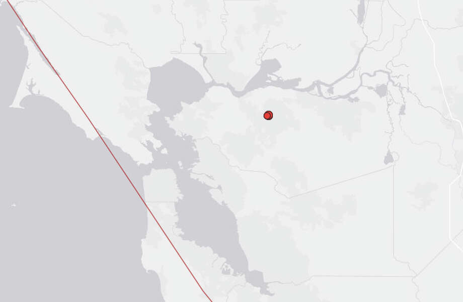 A series of earthquakes struck Wednesday morning near Concord, according to the U.S. Geological Survey. Photo: USGS
