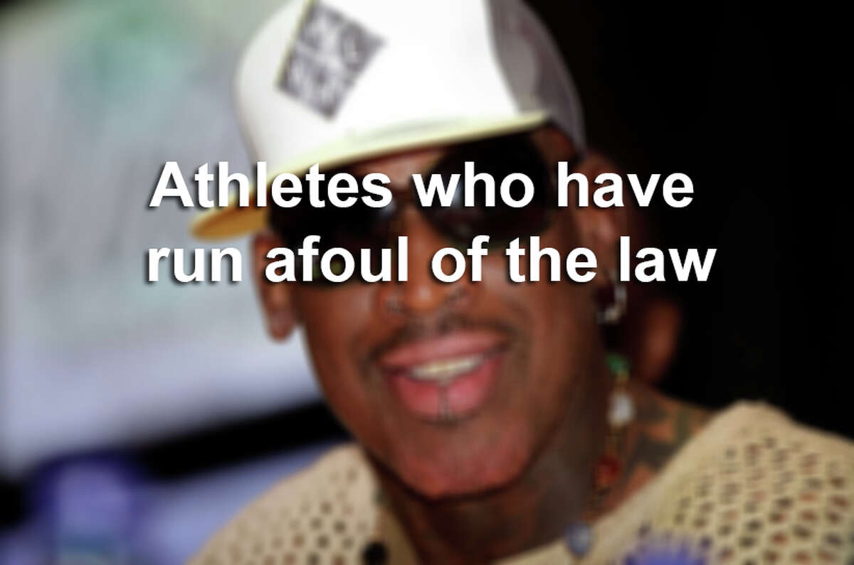 Take a look back at other athletes who have run afoul of the law by clicking through the following photos.