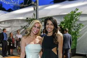 Paula Carano and Leila Janah at the California Academy of Science's annual Big Bang Gala on April 23, 2015.