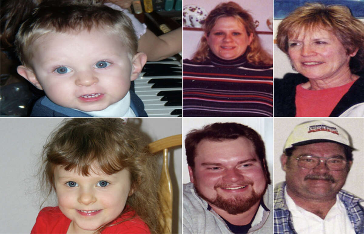 The dead are Judy Anderson; her husband Wayne; their son Scott; Scott's wife Erica Mantle Anderson; Scott and Erica's children Nathan, 3, and Olivia, 5 ½. Senior Deputy Prosecutor Scott O'Toole described them as a