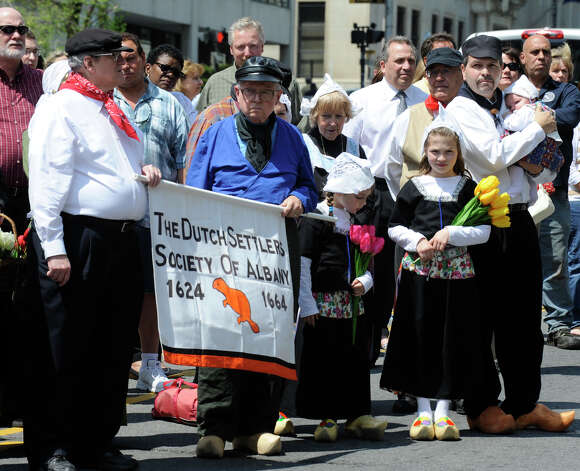 Members of the Dutch Settlers of Albany gathered for the ceremonial opening of the 2009 Tulip Festival in Albany, New York May 8, 2009.(Skip Dickstein / Times Union) Photo: Skip Dickstein / 2008