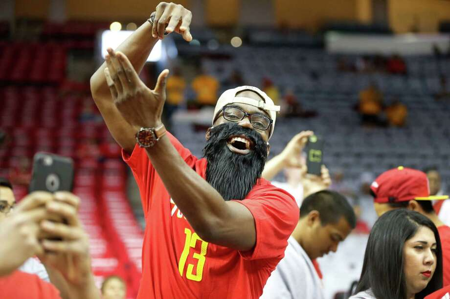 Houston Rockets fans before an NBA Western Conference semifinal basketball game Toyota Center Monday, May 4, 2015, in Houston. Photo: James Nielsen, Houston Chronicle / © 2015  Houston Chronicle
