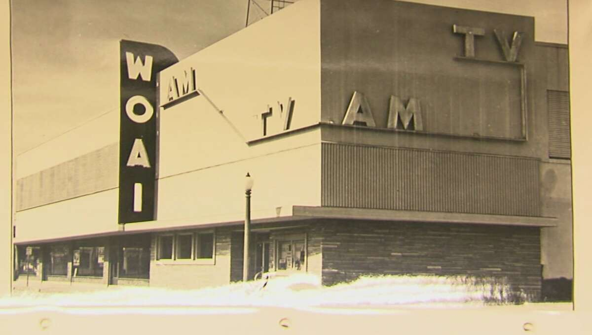 How WOAI-TV looked in its early day after S.A.'s first station signed on in late 1949.