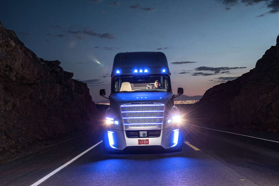 Freightliner unveiled its Inspiration self-driving truck during an event at the Hoover Dam Tuesday, May 5, 2015, near Boulder City, Nev. Photo: Daimler AG - Global Communications Commercial Vehicles, Daimler Trucks North America / press photo, do not use for advertising purposes