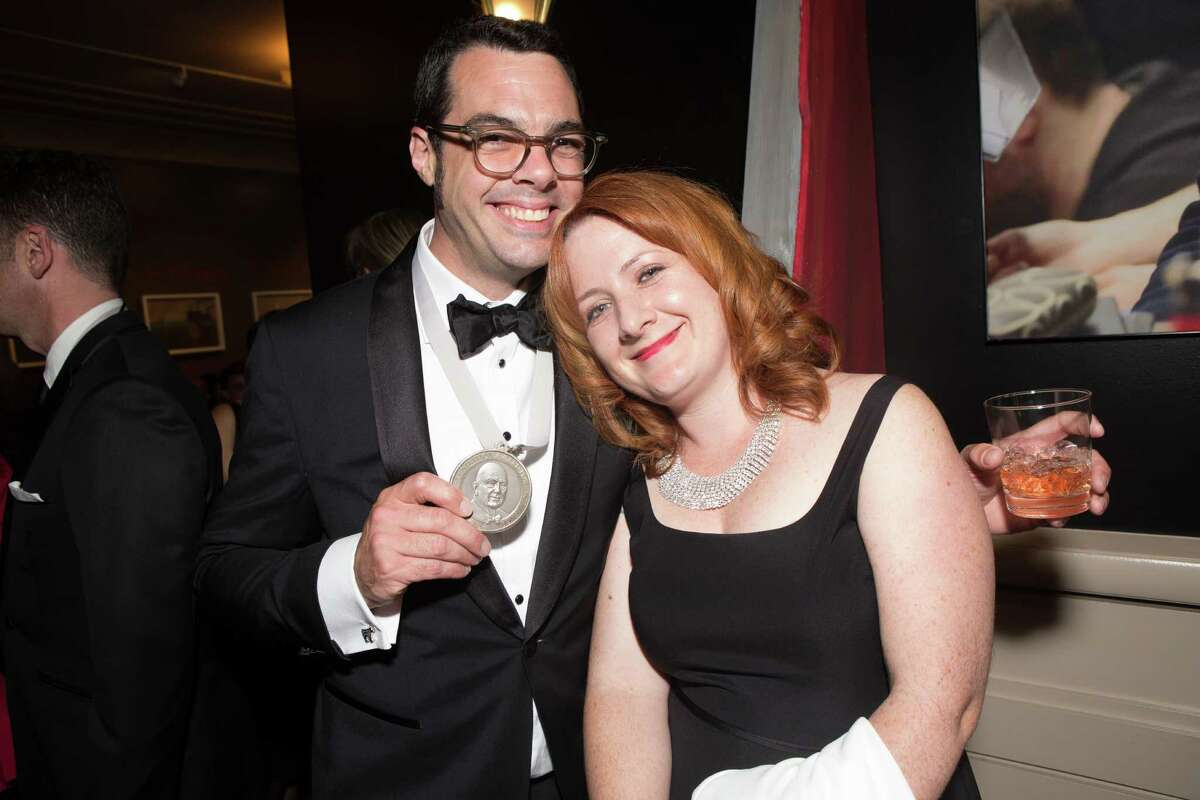 Aaron and Stacy Franklin of Franklin Barbecue in Austin, Texas, at the James Beard Foundation awards on May 4, 2015, in Chicago.