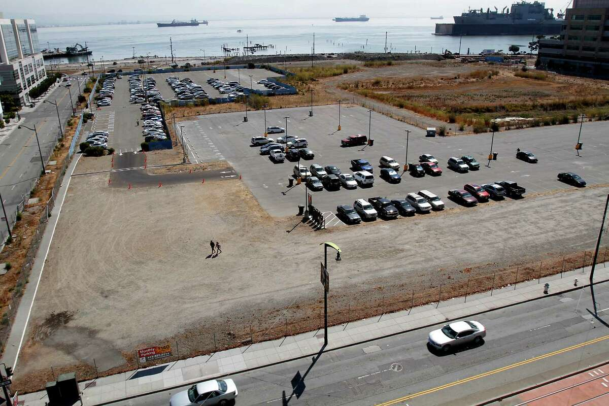 The site on Third St. and 16th St. in Mission Bay where the new Warriors arena will go in San Francisco, Calif., on Thursday, August 28, 2014.
