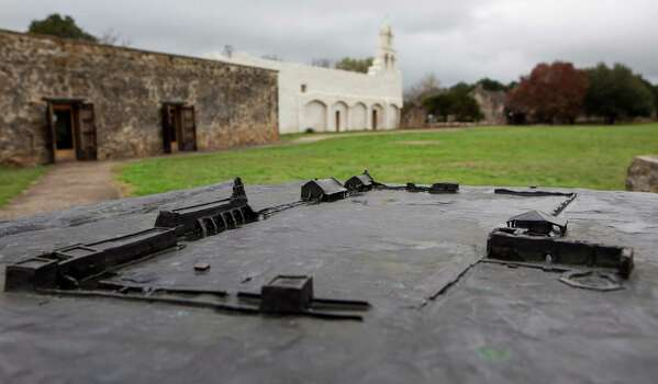 A sculture of Mission San Juan, located in south San Antonio in Missions National Historic Park on Dec. 21st, 2014. Photo: Spencer Selvidge For The San Ant / Spencer Selvidge / Copyright 2014, Spencer Selvidge for the San Antonio Express-News