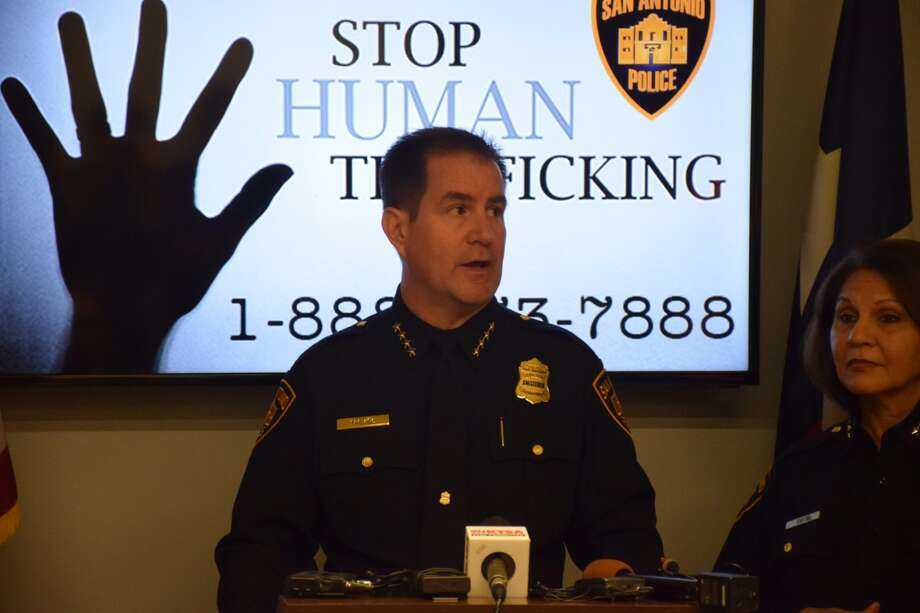The San Antonio Police Department unveiled a new campaign Wednesday aimed at raising awareness for human trafficking. Photo: By Mark D. Wilson