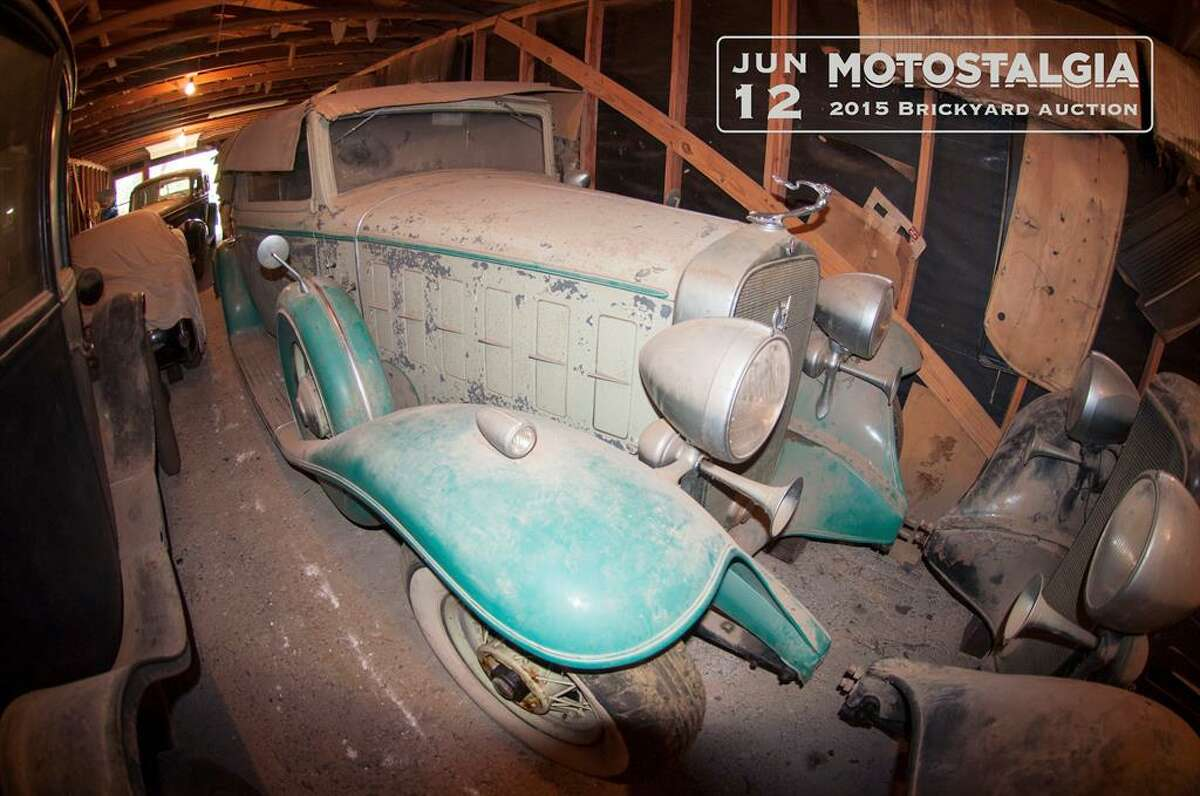 This 1932 Cadillac V12 Victoria Convertible was one of the cars found in an Austin barn after more than four decades of storage. It has an estimated value between $285,000-$350,000 for the upcoming Motostalgia Brickyard Auction in Indianapolis on June 12.Click here to see more about this automobile.