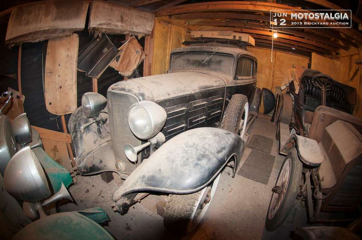 This 1933 Cadillac Model 370C Town Coupe V-12 was one of the cars found in an Austin barn after more than four decades of storage. It has an estimated value between $55,000-$75,000 for the upcoming Motostalgia Brickyard Auction in Indianapolis on June 12.Click here to see more about this automobile.