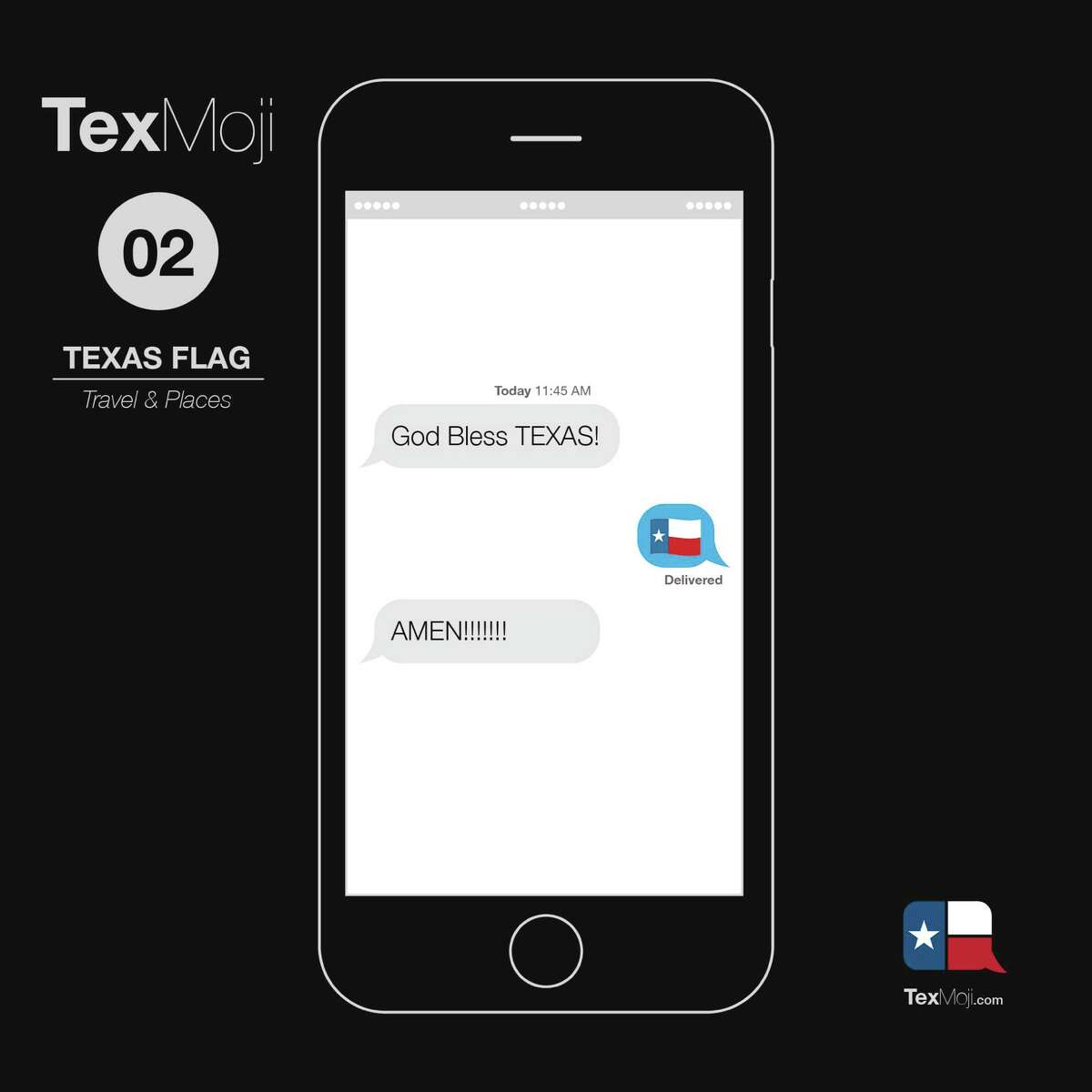 A new line of Texas-centric emojis called TexMojis may soon be hitting smartphone app stores. (courtesy of Sean Campton / TexMojis)
