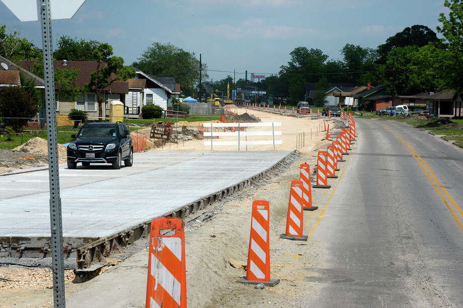 Washington Boulevard in Beaumont on Friday afternoon. Currently under construction, the new road is expected to offer a left turn lane and new sidewalks.  Photo taken Friday, May 01, 2015  Guiseppe Barranco/The Enterprise Photo: Guiseppe Barranco, Photo Editor