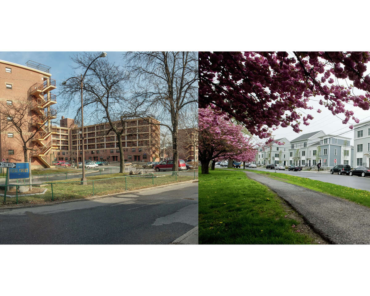 Transformation of old Cabrini Green-style housing project Vidal Court into a row of mixed income townhouses is complete
