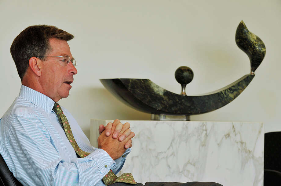 Chairman and CEO of Gen Re Tad Montross speaks to a reporter in the company's offices in Stamford, Conn., on Wednesday, May 6, 2015. Photo: Jason Rearick / Stamford Advocate