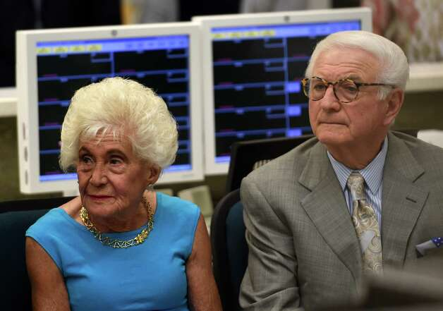 Jane and Neil Golub listen to speeches during the celebration of the completion of the new Neil and Jane Golub Center for Emergency Care at Ellis Hospital Wednesday morning May 6, 2015 in Schenectady, N.Y.     (Skip Dickstein/Times Union) Photo: SKIP DICKSTEIN / 00031729A