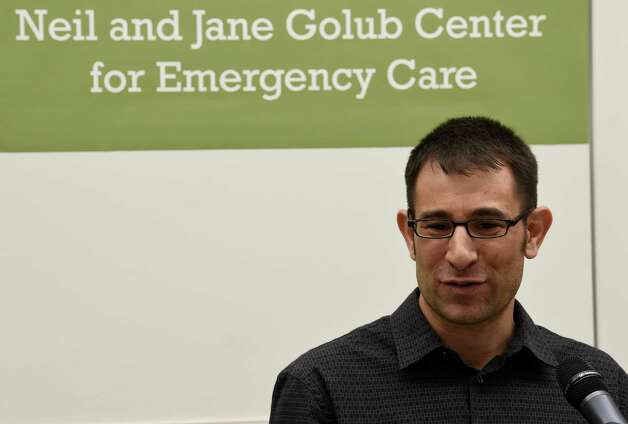 Ken Carfagno of Burnt Hills talks about his experiences as a patient in the new Emergency Room during the celebration of the completion of the new Neil and Jane Golub Center for Emergency Care at Ellis Hospital Wednesday morning May 6, 2015 in Schenectady, N.Y.     (Skip Dickstein/Times Union) Photo: SKIP DICKSTEIN / 00031729A