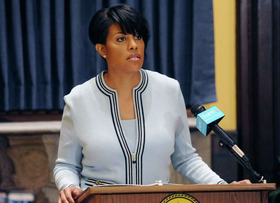 Mayor Stephanie Rawlings- Blake asks the U.S. government to investigate the city's police department. Photo: Kim Hairston / Baltimore Sun / The Baltimore Sun