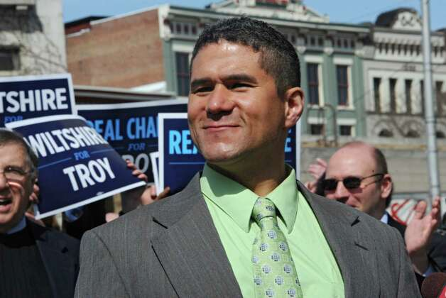 City Council President Rodney Wiltshire officially announces he is running for mayor Wednesday, March 25, 2015 in Troy, N.Y. Mayor Lou Rosamilia is not running for another term. (Lori Van Buren / Times Union) ORG XMIT: MER2015050616441603 Photo: Lori Van Buren / 00031152A
