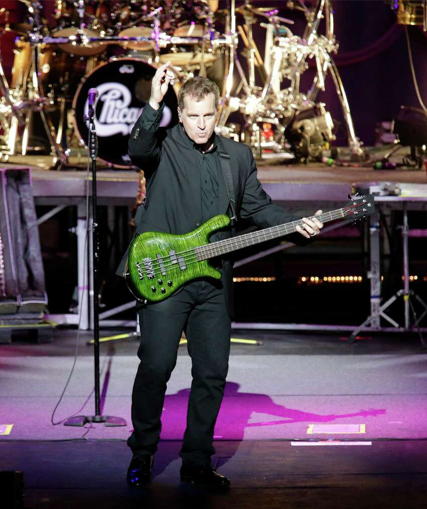 Bassist Jason Scheff of legendary rock band Chicago performs at the Majestic Theater on Wednesday, May 6, 2015.