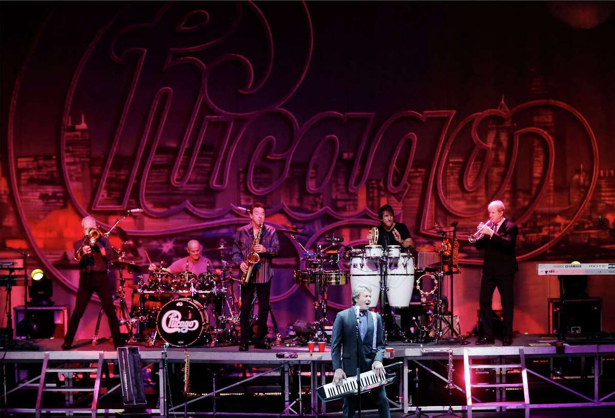 Robert Lamm (foreground) with legendary rock band Chicago performs at the Majestic Theaster on Wednesday, May 6, 2015.
