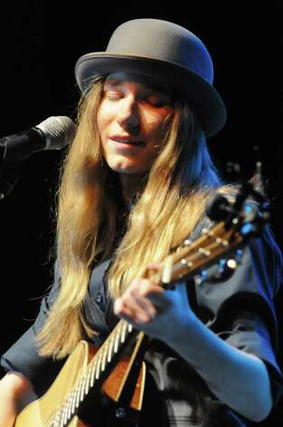 """""""The Voice"""" star Sawyer Fredericks gives a free concert at the Palace Theater on Wednesday May 6, 2015 in Albany, N.Y. (Michael P. Farrell/Times Union) Photo: Michael P. Farrell / 00031717A"""