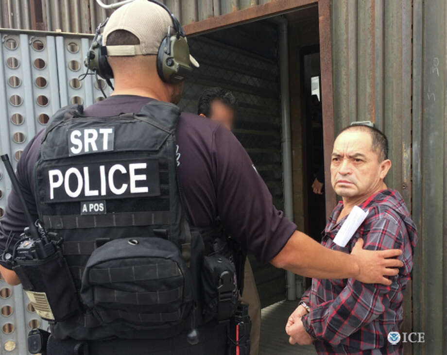 Heriberto Gomez Galicia, 62, was turned over to Mexican authorities May 6, 2015. He was arrested in Watsonville in 2014 on suspicion of killing seven people, including an 8-year-old child, and wounding four others in Mexico in 1991. Photo: Courtesy / U.S. Immigration And Customs / ONLINE_YES