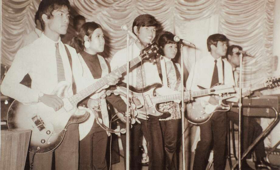"An unidentified band rocks out in Cambodia in the documentary ""Don't Think I've Forgotten: Cambodia's Lost Rock and Roll."" Photo: Argot Pictures / Argot Pictures / Photograph from personal collection of Samley Hong"